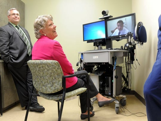 Rep. Julia Brownley toured the existing Oxnard VA clinic earlier this year. She has introduced legislation to authorize funding for a new facility.