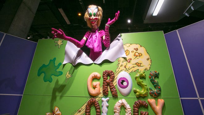 The entrance to Grossology: The (Impolite) Science of the Human Body at the Arizona Science Center in Phoenix on Wednesday, May 20, 2015.