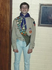 Jake Fairhurst was an Eagle Scout while growing up