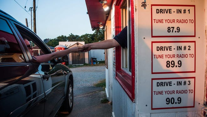 The Warwick Drive-in's owners said they would cut down on the number of cars that would be allowed at each screen if they can obtain a waiver from the state and open in April.