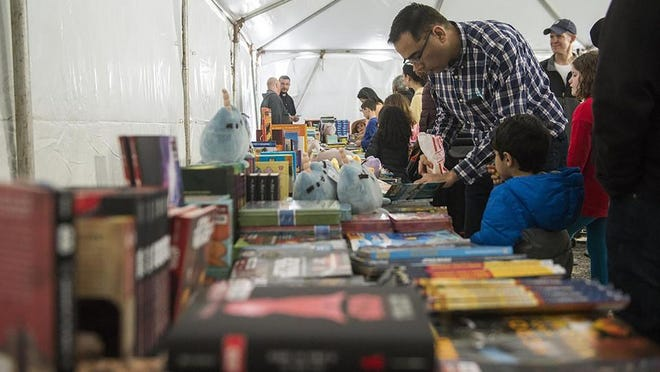 The traditional festival for next February was canceled and SBF is launching a series of virtual author events monthly, starting Oct. 14.. Shown is Savannah Book Festival Children's Tent in this file photo.