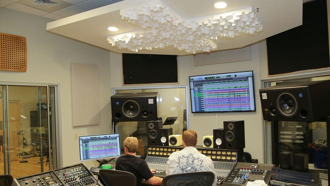 Aaron Gatz runs the analog board, while Robert Conray tweaks the Pro Tools system, which is one nod to digital technology in the new Vol State recording studio.