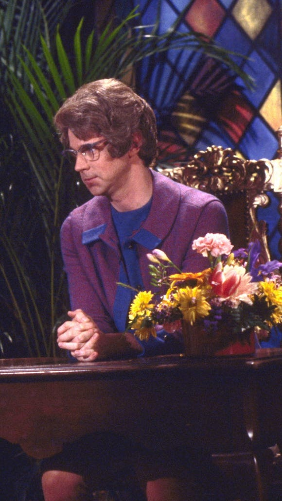 Here's Dana Carvey as the Church Lady, in SNL's 25th