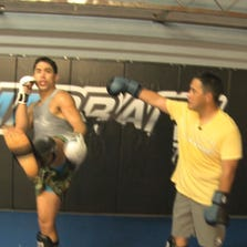 Team Alpha Male's Justin Bucholz teaches News10's Ryan Yamamoto in the art of the push kick in this week's Ultimate Move.