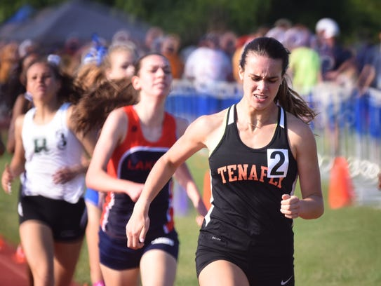 Lexi Del Gizzo (2), of Tenafly, running in the 800