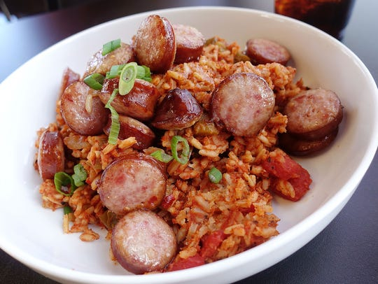 Jambalaya at Mingo's Louisiana Kitchen.