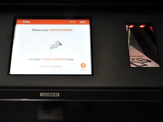 The screen and scanner needed to order and pick up