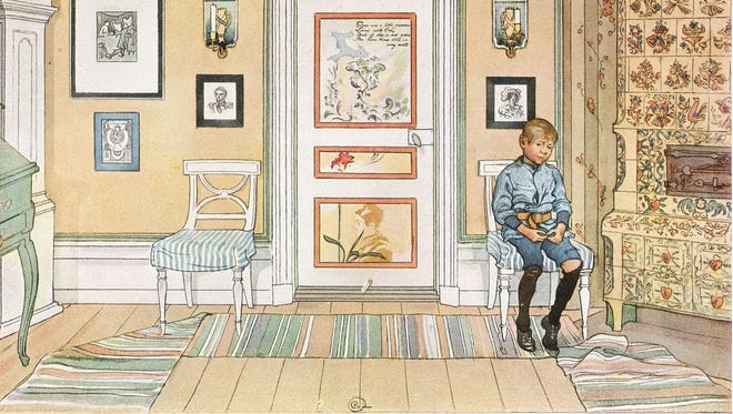 'Time Out' a painting by Carl Larsson