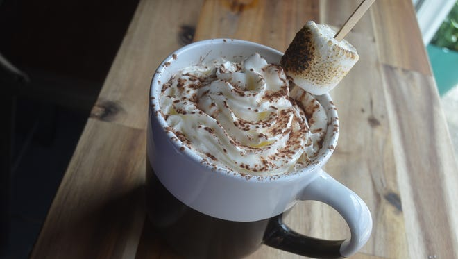 Stompin' Grounds Coffee House serves hot chocolate for non-coffee drinkers.