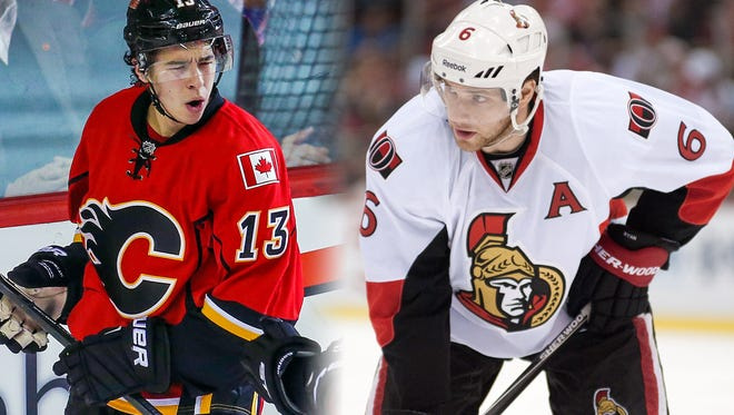 Johnny Gaudreau, left, and Bobby Ryan, right, will both represent South Jersey in the NHL All-Star festivities