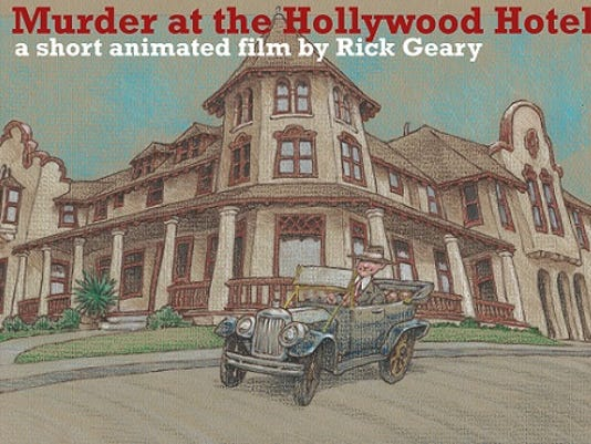 rick geary poster murder at the hollywood hotel movie