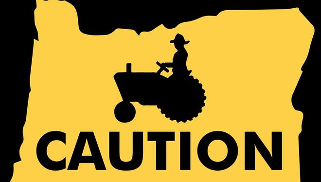 Marion County Sheriff's Office is teaming up with the Oregon Farm Bureau and the Agriculture and Turf division of Papé Machinery on a campaign to remind motorists to safely share the road with tractors and other farm equipment.