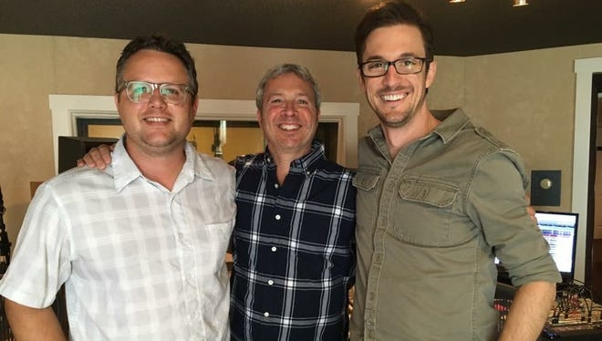 Paul Nelson (contractor/leader), left, Doug Sarrett (engineer/studio owner) and Brandon Collins (arranger/producer) worked on U2's new album at a studio in Brentwood. They still haven't met the band.