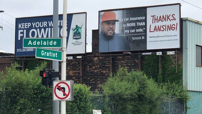 New Detroit billboards push auto insurance reforms.