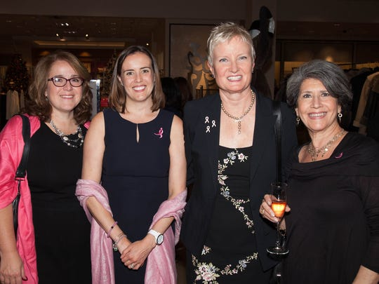 Left to right: Michele Caselnova, Vice President, Komen North Jersey Board of Trustees and 2017 Pink Tie Party Co-Chair; Kelly Witkowski, Komen North Jersey Executive Director; Kristin Wenger, President, Komen North Jersey Board of Trustees and Lena Zajac, a longtime supporter of the Affiliate