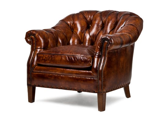 A luxurious leather lounge chair can boost Dad's favorite room.