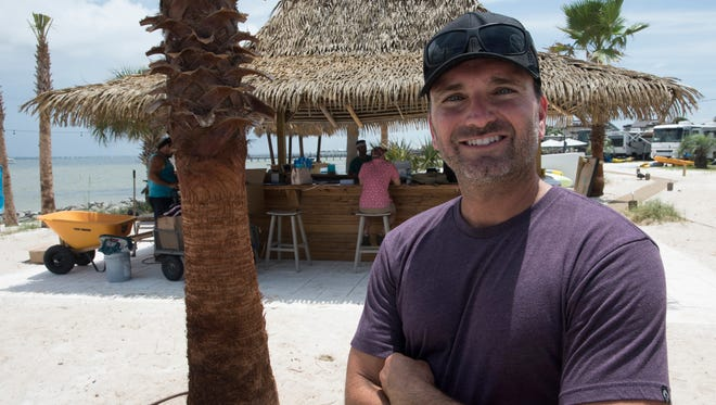 Scott Zepp is scheduled to open his newest venture, Island Culture Tiki Bar, on Pensacola Beach Thursday, June 21, 2018. The tiki bar is located directly behind the Pensacola Beach RV Resort on Via De Luna Drive overlooking the sound.