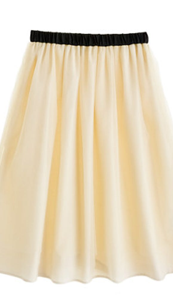 J. Crew ballet skirt in champagne ($98)