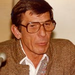 Leonard Nimoy during a visit to Ocean County College on May 2, 1984.
