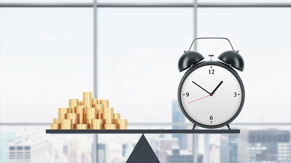 Time is money. When you buy something, you trade minutes or hours of your life for it. It's a good way to decide if it's worth the price.