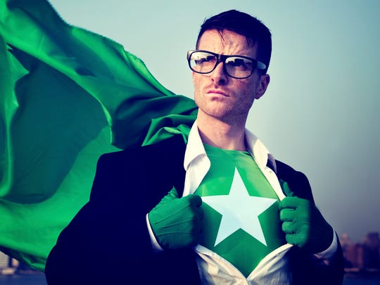 Strong Superhero Businessman Star Concepts Unsung Hero