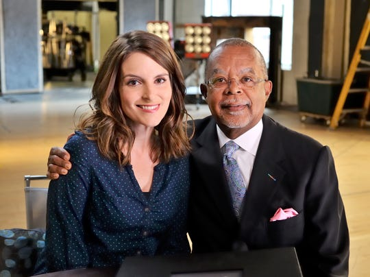 Tina Fey and Henry Louis Gates, Jr.
