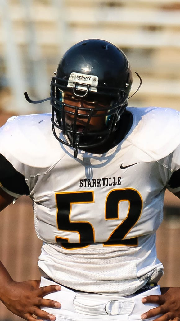 Starkville's Kobe Jones, who plays tackle on one of the strongest defensive lines in Mississippi, found ways to stand out.