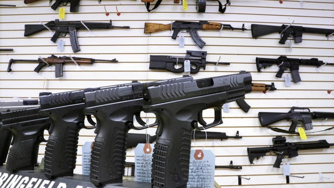 Assault weapons and handguns like these are regulated by New York's SAFE Act, which was adopted by the 2013 state Legislature in the wake of mass killings of schoolchildren in Connecticut and the killing of two Webster firefighters.