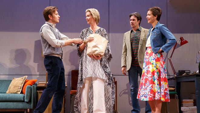 Ewan McGregor, Cynthia Nixon, Josh Hamilton and Maggie Gyllenhaal in a scene from the Tom Stoppard play 'The Real Thing' in New York.