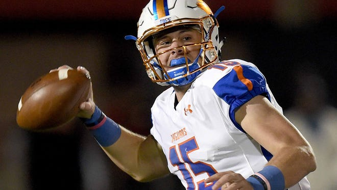 Madison Central quarterback Jack Walker (