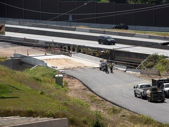 Looking across a bridge that will carry traffic from northbound Interstate 83 to Mount Rose Ave Wednesday September 27.