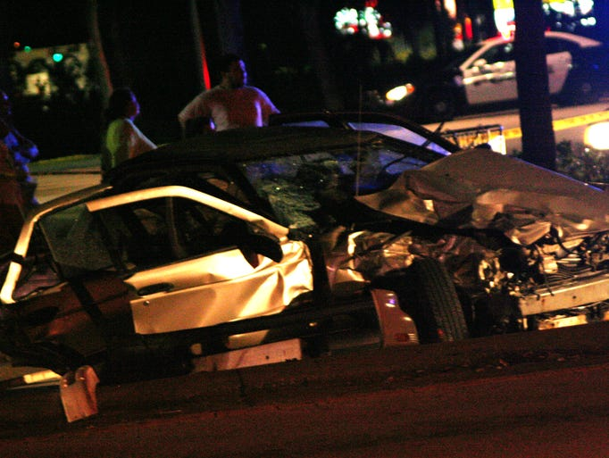 Fatal accident at the intersection of Wickham and Eau Gallie Blvd.