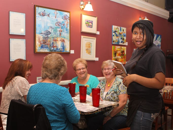 August Art Walk was well attended on Thursday, the event was highlighted by a juried show at the Downtown Artist's Co-op.