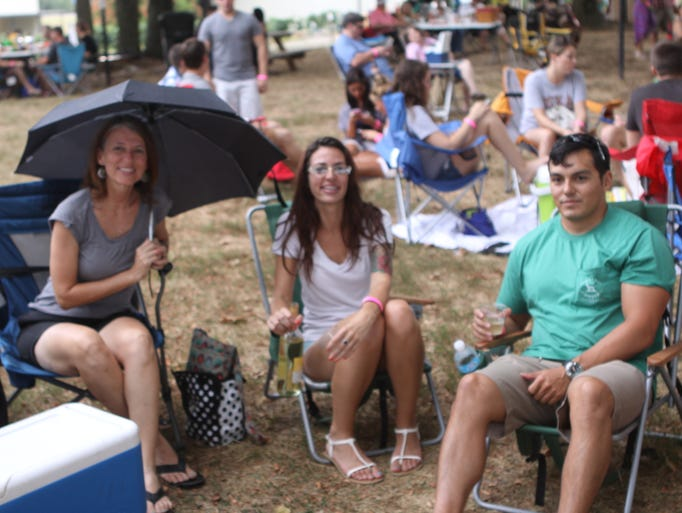Jazz on the Lawn at Beachaven drew big crowds in spite of the rain Saturday night