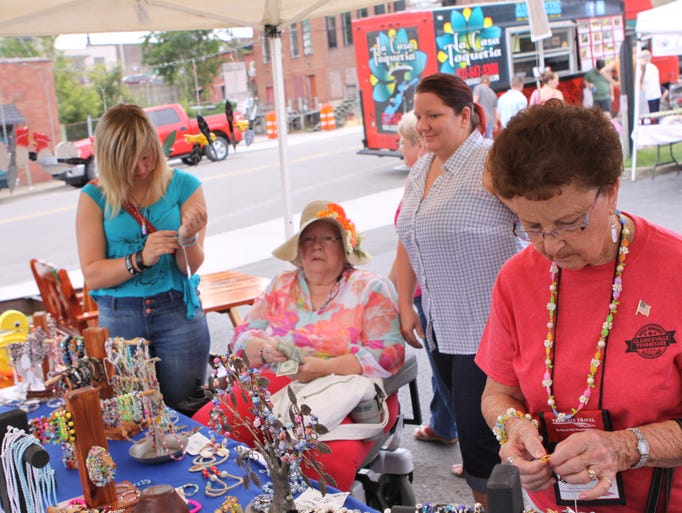 The Downtown Market was slowed a little by the threat of rain on Saturday morning.