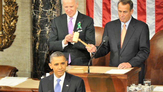 President Barack Obama prepares to deliver his State of Union Address on Feb. 12, 2013.