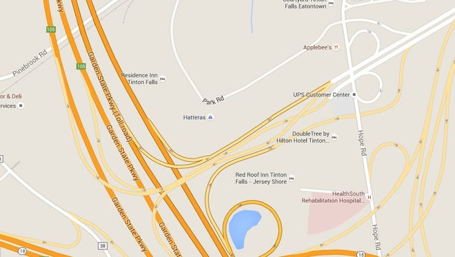 The crash occurred on the Hope Road by the northbound exit ramp for the Garden State Parkway in Eatontown.