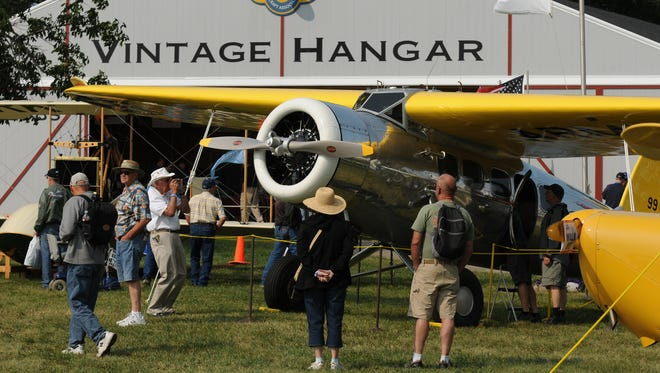 Vintage aircraft section is a popular stop for those attending AirVenture.