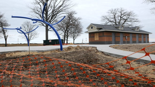 Work continues on the new improvements Monday, Feb. 22, at Lakeside Park in Port Huron.