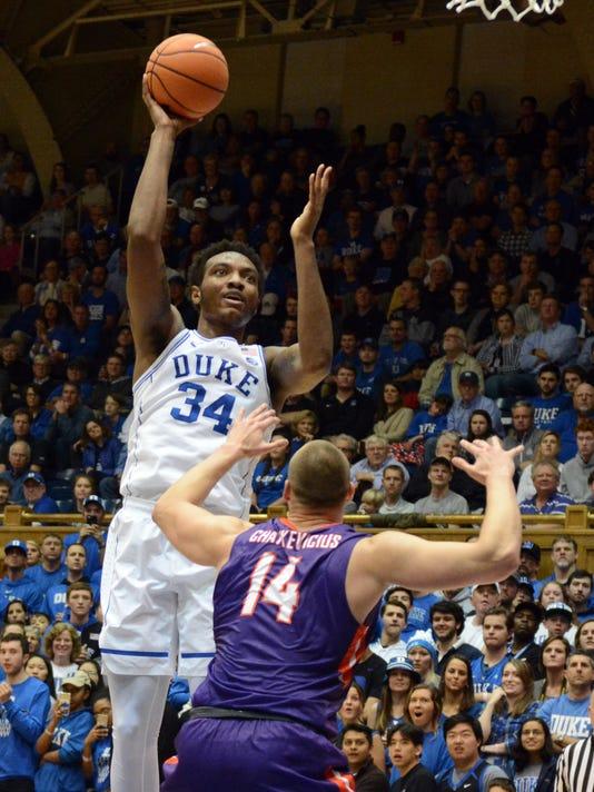 NCAA Basketball: Evansville at Duke