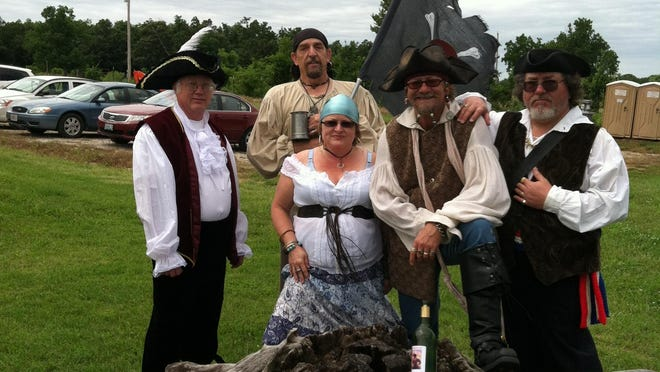 A lot of people dress up in costume for the Pirate Faire, says owner Dwight Crevelt.