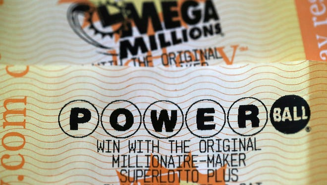 Powerball and Mega Millions lottery tickets.