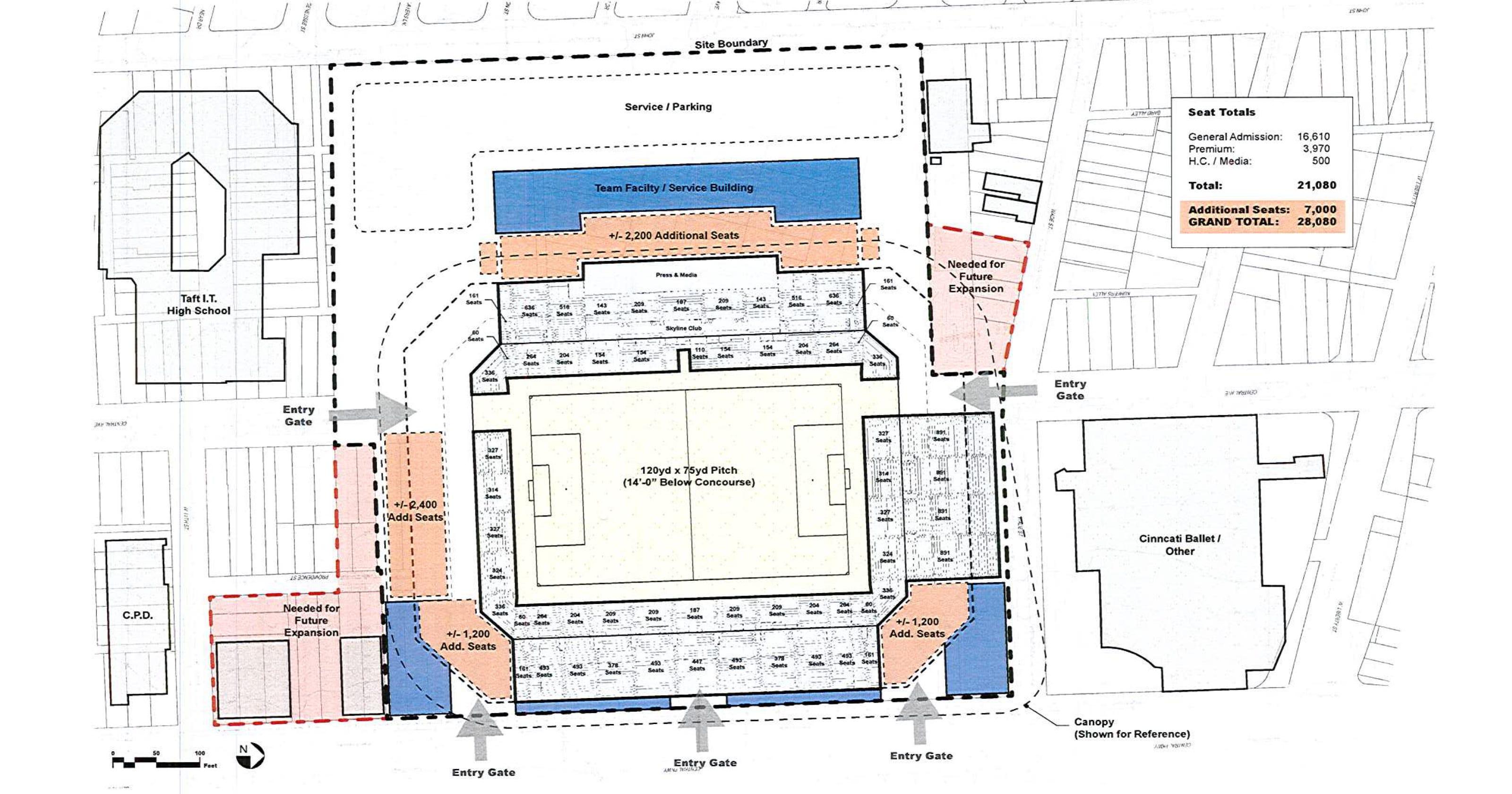 Schematics Show Lay Of The Land For West End Fc Cincinnati Stadium Ohio Home Wiring Circuit Diagram