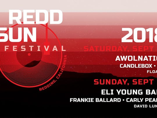 The lineup for the first Redd Sun Festival was announced