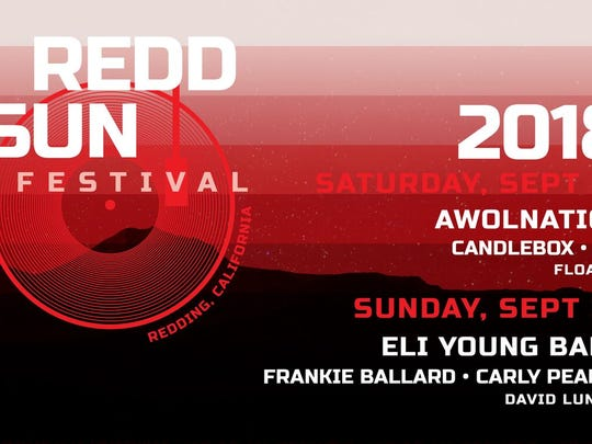 The lineup for the first Redd Sun Festival was announced Monday.