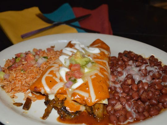 Cocina Madrigal is a new restaurant in south Phoenix. Pictured is the mushroom enchilada.
