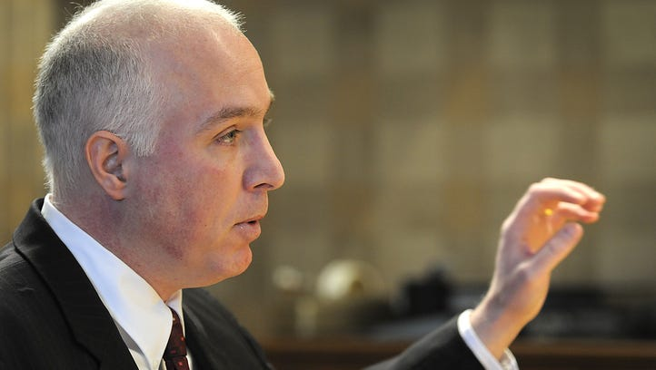 State Sen. Mike Delph,  discusses  his immigration legislation in 2011.