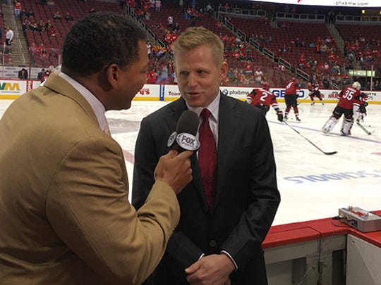 "Chris Osgood on preparing for a Red Wings broadcast: ""It's one of those things where people tell you, there's more to it than you think."""