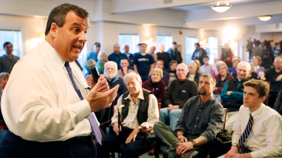 Republican presidential candidate and N.J. Gov. Chris