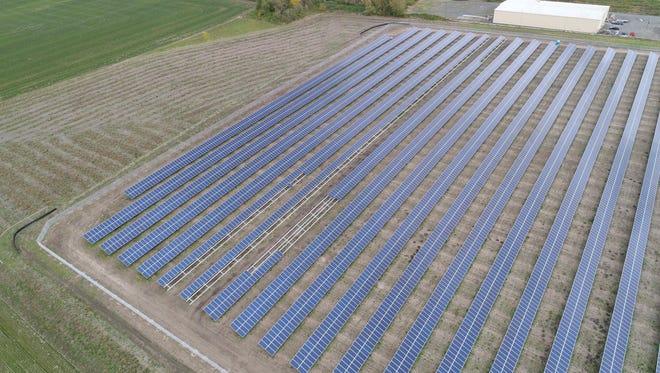 Aerial photo of a solar installation near Silverton.